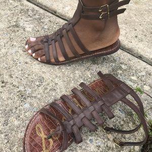 Sam Edelman Gladiator Sandal Flat Brown